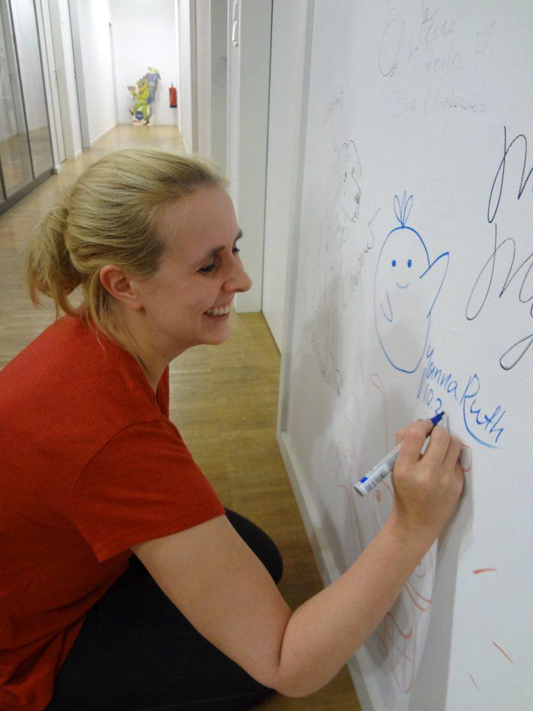 Janna auf der Wall of Fame